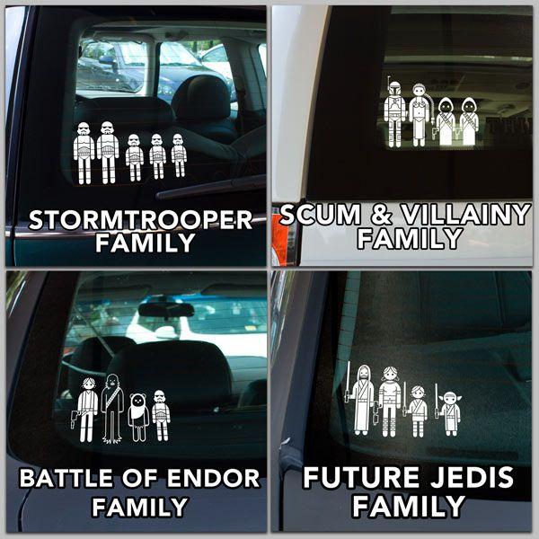 Autocollants star wars pour afficher les membres de la famille for Autocollant mural star wars