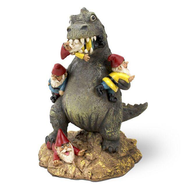 Godzilla Et Zombie Des Nains De Jardin Pour Les Geeks
