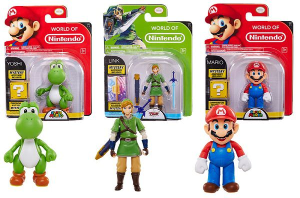Figurines Mario, Link et Yoshi 10 cm