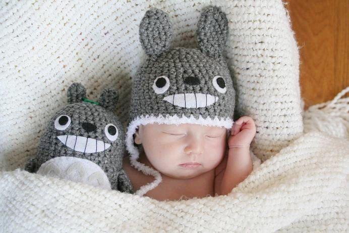 Bonnet Totoro + peluche