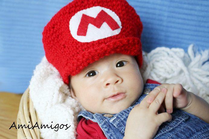 Bonnet nouveau-né Mario