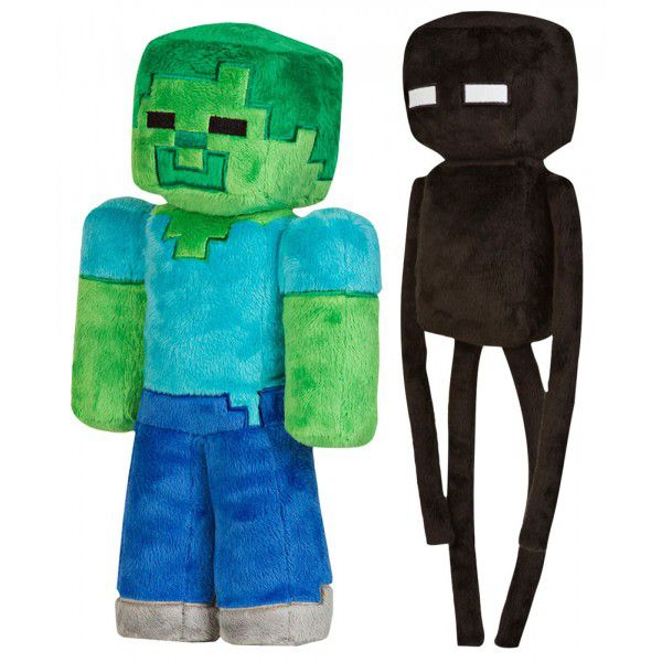 set-de-2-peluches-minecraft-zombie-enderman [600 x 600]