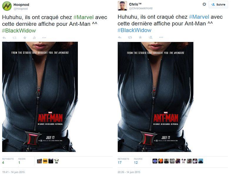 Exemple d'un tweet copié-collé 41 mns après sa diffusion.
