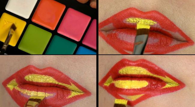 tuto-lip-art-superman [650 x 356]