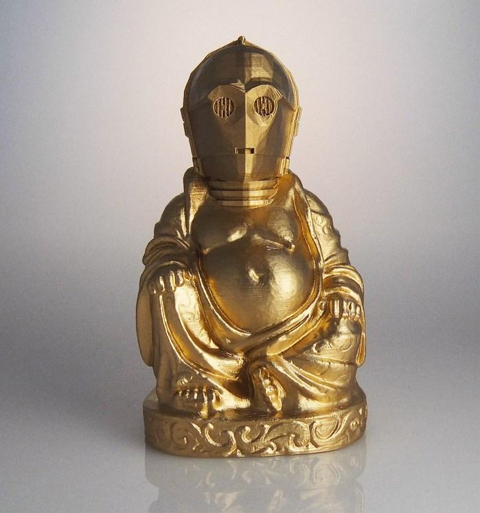 buddha-bouddha-statue-C3po-star-wars [699 x 747]