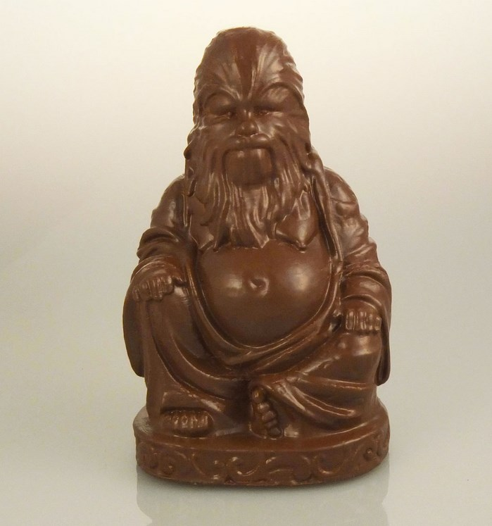 buddha-bouddha-statue-chewbacca-star-wars [699 x 747]