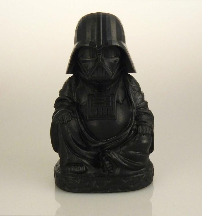 buddha-bouddha-statue-dark-vador-star-wars [699 x 747]