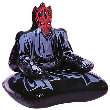Chaises gonflables star wars dark maul jar jar binks for Chaise yoda