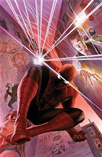 marvel-spiderman-canvas-art-alex-ross-signed [327 x 500]