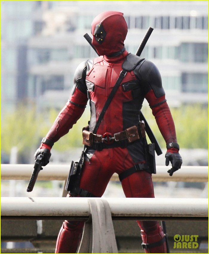 Photo du tournage du film Deadpool. Source : justjared.com