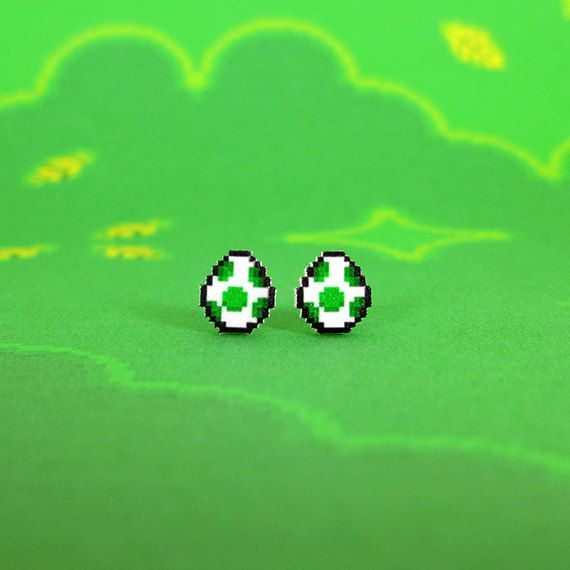boucles-oreilles-earrings-nintendo-mario-yoshi-eggs [570 x 570]