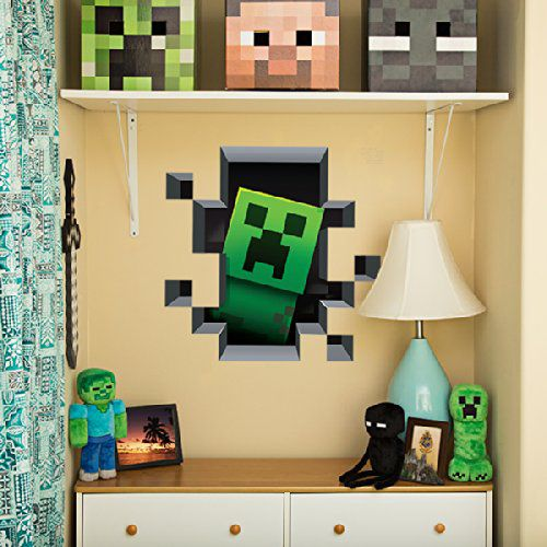 minecraft-wall-decal-stickers-mural-3d-creeper [500 x 500]