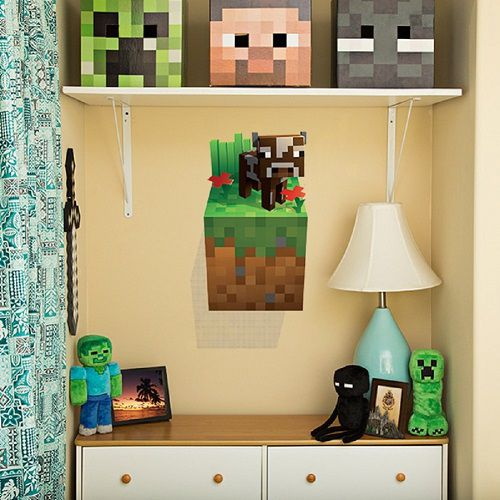 minecraft-wall-vache-decal-stickers-mural-3d [500 x 500]