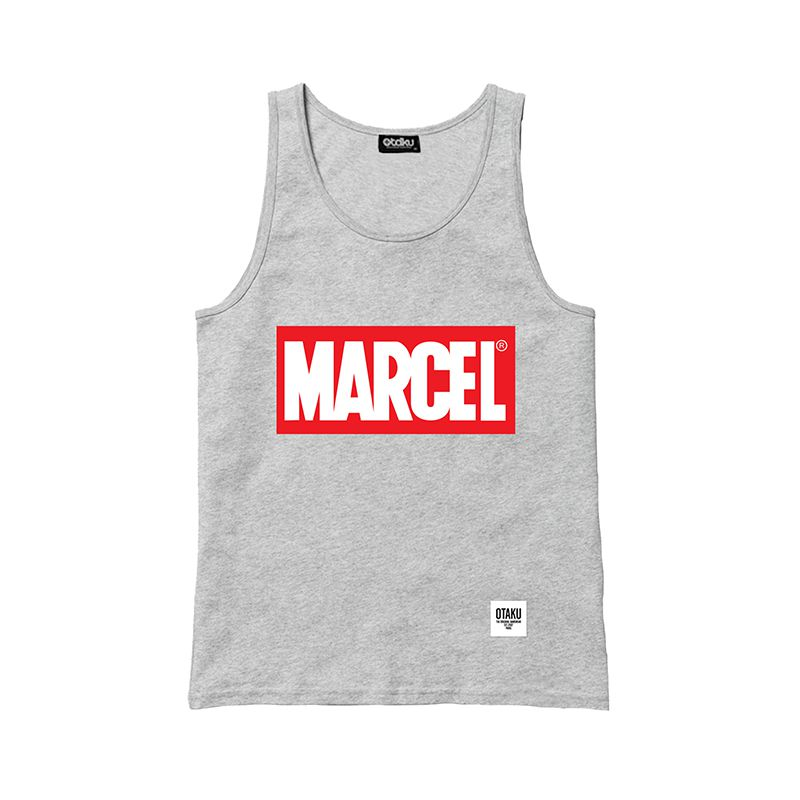 d bardeur marcel et t shirt avec logo marvel d tourn. Black Bedroom Furniture Sets. Home Design Ideas