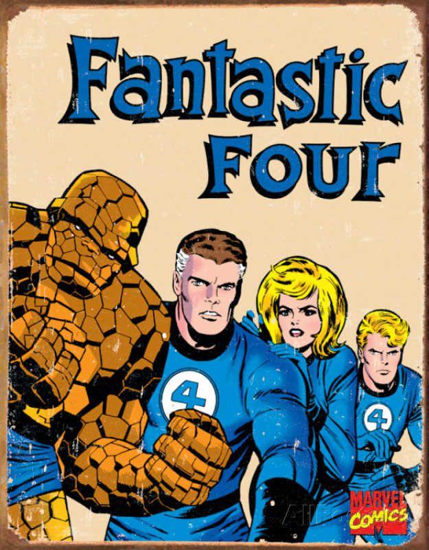 4-fantastiques-panneau-metal-metallique-marvel-retro-comics [625 x 800]