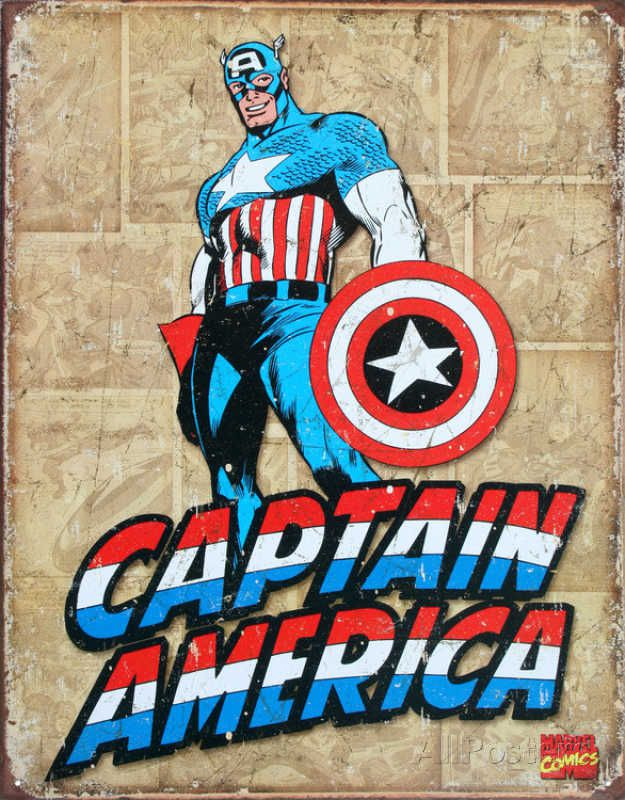 captain-america-panneau-metal-metallique-marvel-retro-comics [625 x 800]
