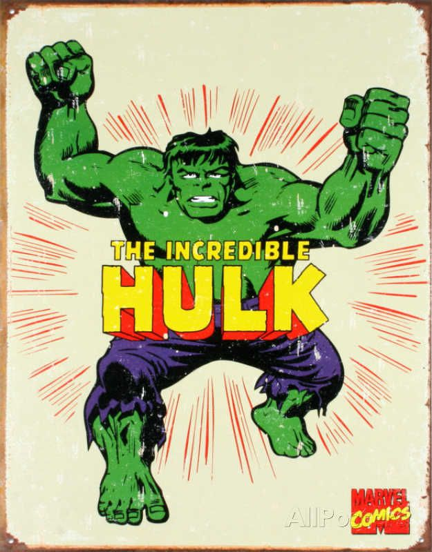 hulk-panneau-metal-metallique-marvel-retro-comics [625 x 800]