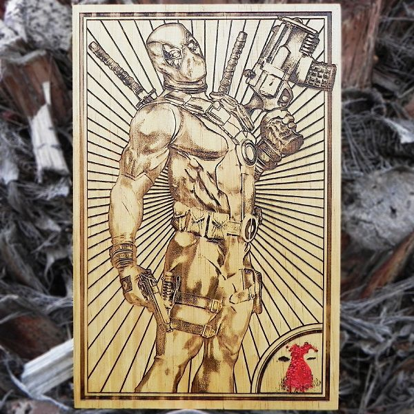 deadpool-marvel-comics-tableau-panneau-bois-affiche-poster [600 x 600]