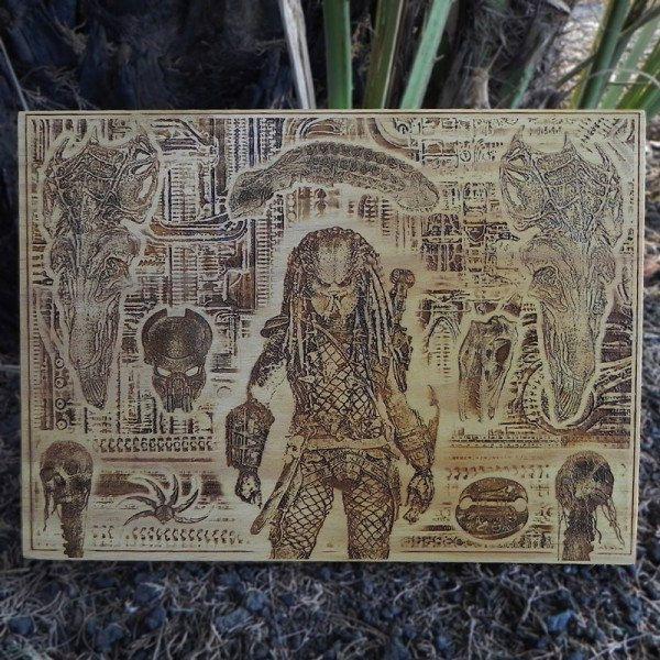 predator-tableau-panneau-bois-affiche-poster-2 [600 x 600]