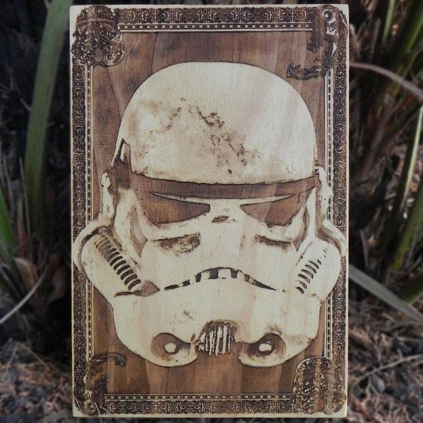 star-wars-stormtrooper-tableau-panneau-bois-affiche-poster [600 x 600]
