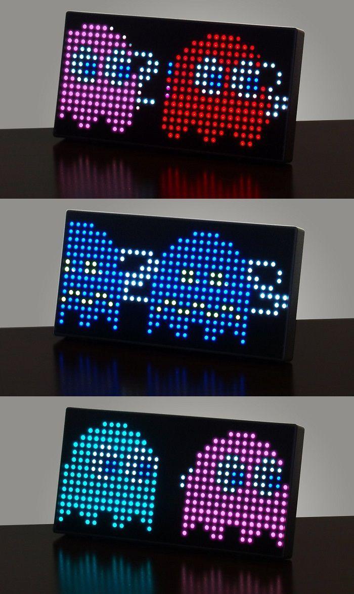 horloge-pac-man-bureau-35- anniversaire-pixel-8-bit-retrogaming [700 x 1172]