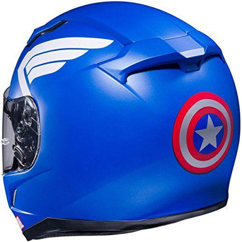 un superbe casque de moto captain america par hjc. Black Bedroom Furniture Sets. Home Design Ideas