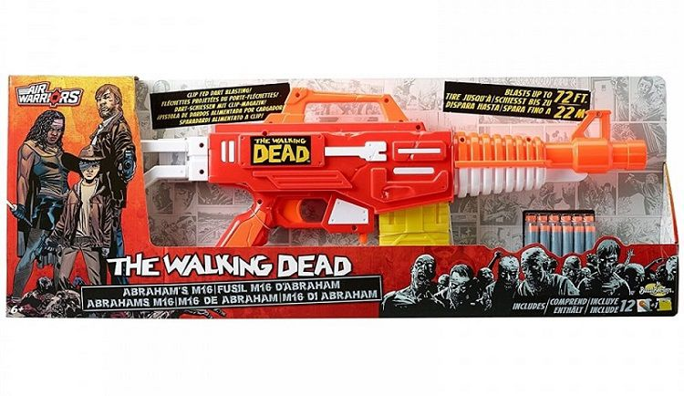 fusil-flechette-the-walking-dead-abraham-m16-air-warriors-nerf-boite-750-x-434