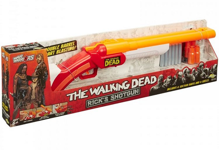 fusil-pompe-shotgun-flechette-the-walking-dead-rick-grimes-air-warriors-nerf-boite-750-x-513