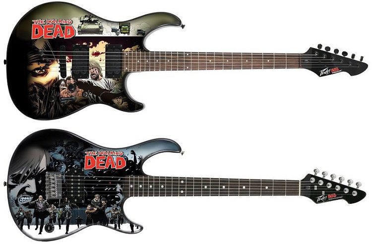 walking-dead-guitare-peavey-predator-electrique-bande-dessinee-750-x-494
