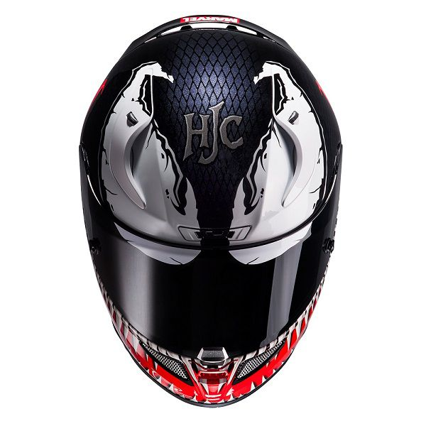les casques de moto spider man et venom par hjc. Black Bedroom Furniture Sets. Home Design Ideas