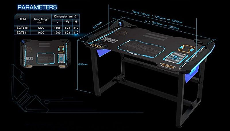 Un bureau 100 gaming pc chez e blue for Bureau gamer