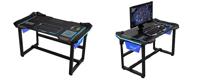 un bureau 100 gaming pc chez e blue. Black Bedroom Furniture Sets. Home Design Ideas
