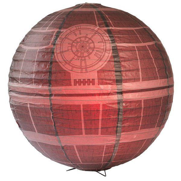 Star Wars La Lampe D Ambiance Etoile De La Mort En Papier