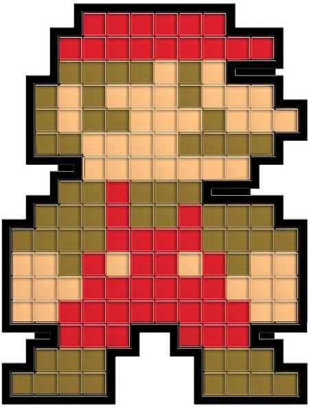 8 Lampes retrogaming 8 Bit Nintendo Mario Luigi Link