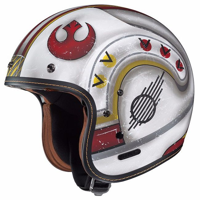 star wars casque de moto hjc pilote x wing fg 70s. Black Bedroom Furniture Sets. Home Design Ideas