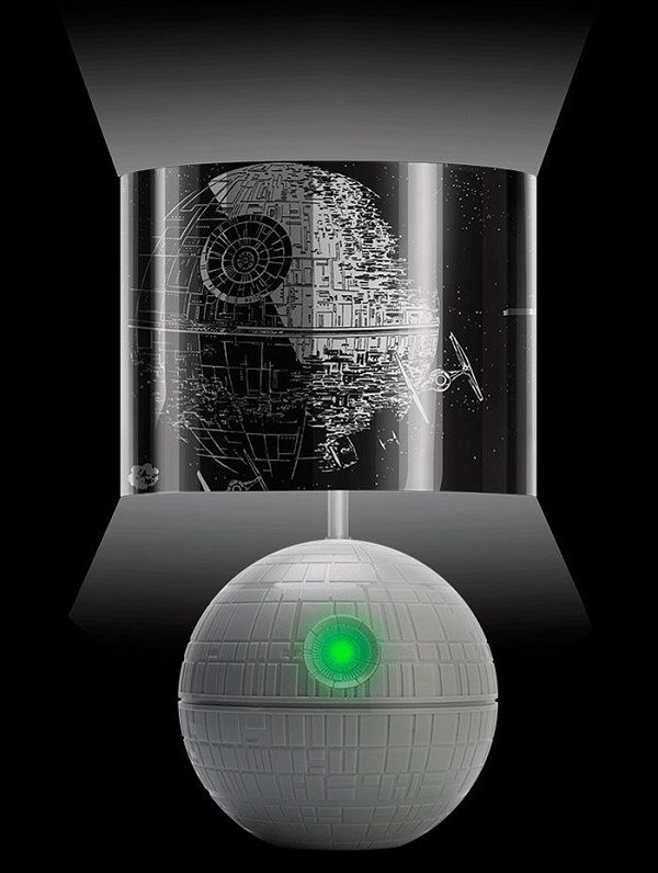 Star Wars Une Lampe 3d En Forme D Etoile De La Mort