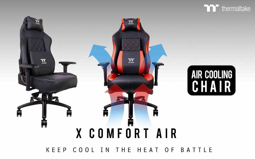 fauteuil gaming thermaltake garde votre post rieur au frais. Black Bedroom Furniture Sets. Home Design Ideas