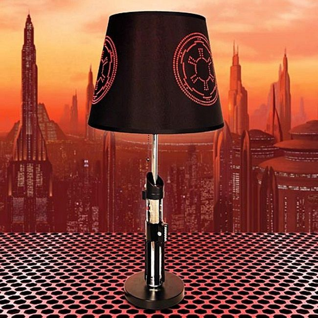 2 lampes sabre laser star wars luke skywalker dark vador. Black Bedroom Furniture Sets. Home Design Ideas