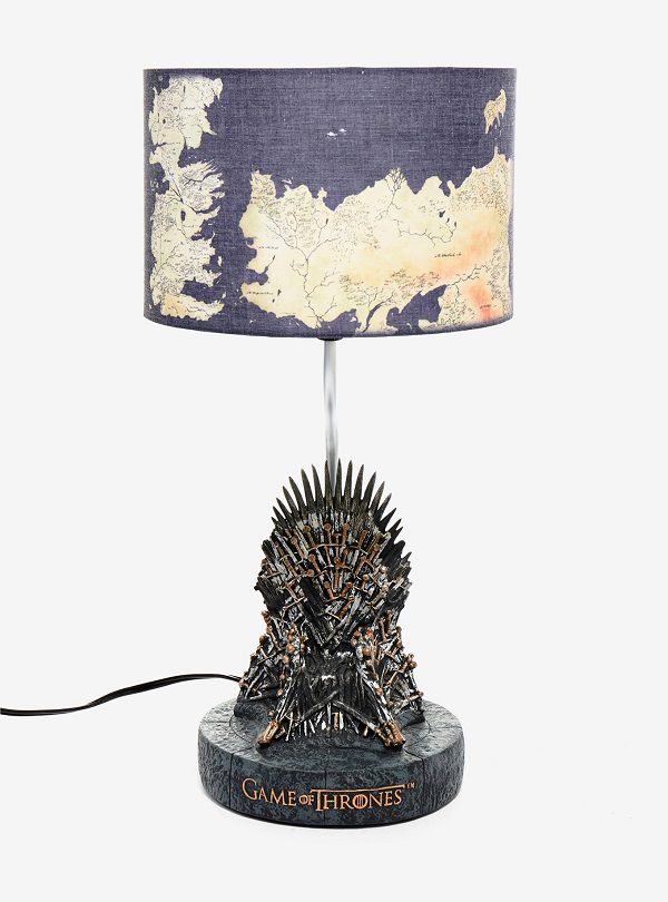 Thrones Superbe Le Une Fer Of De Game Trône Lampe Avec CBedxo