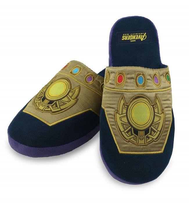 véritable prix bas vraie affaire Avengers : les chaussons Thanos Gant de l'Infini