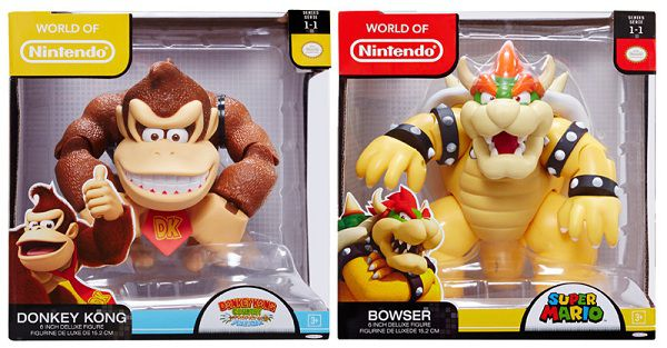 Figurines Donkey Kong & Bowser 10 cm