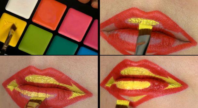 tuto-lip-art-superman [650 x 356]