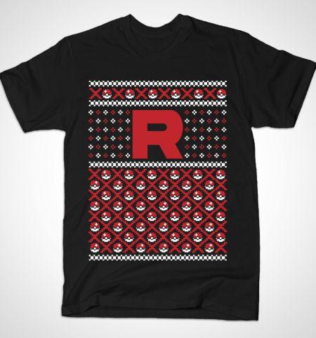 t-shirt-noel-christmas-pokemon-team rocket [450 x 482]