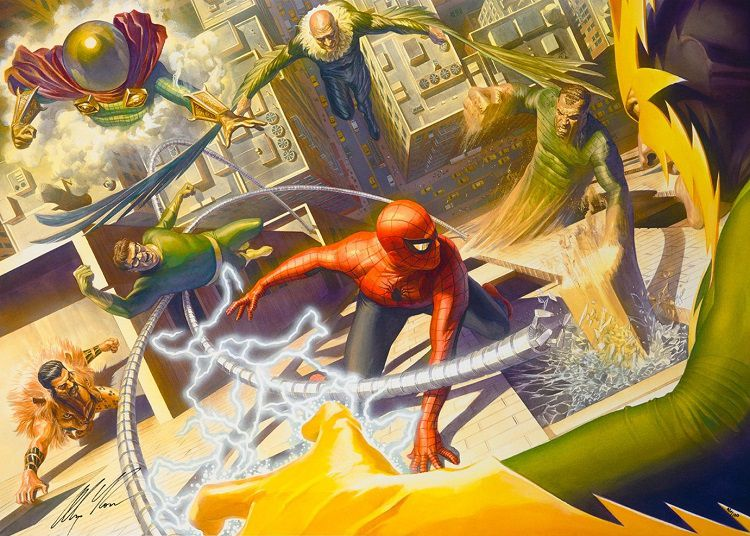 marvel-sinister-six-alex-ross-canvas-art-signed [750 x 636]