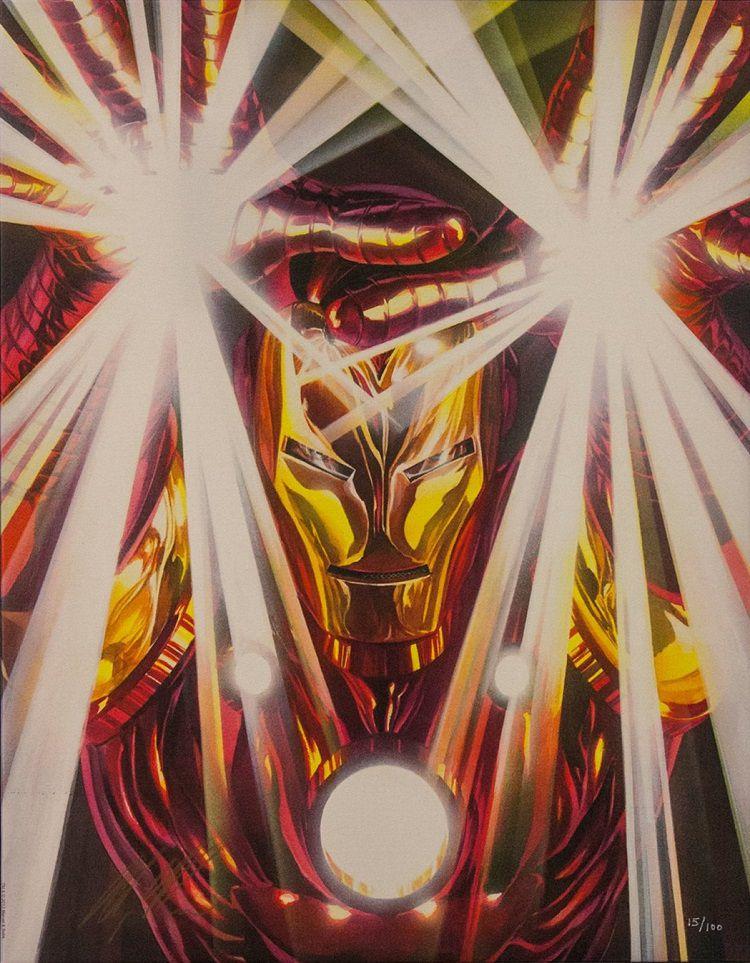 marvel-visions-iron-man-alex-ross-canvas-art-signed [750 x 963]