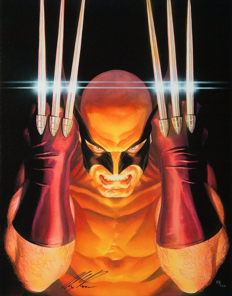 marvel-wolverine-alex-ross-canvas-art-signed [750 x 954]