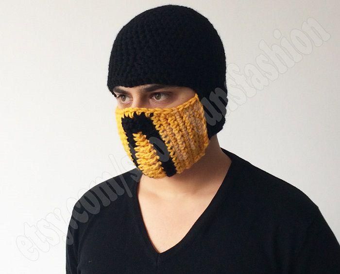 mortal-kombat-x-bonnet-beanie-mask-masque-ski-scorpion [700 x 564]