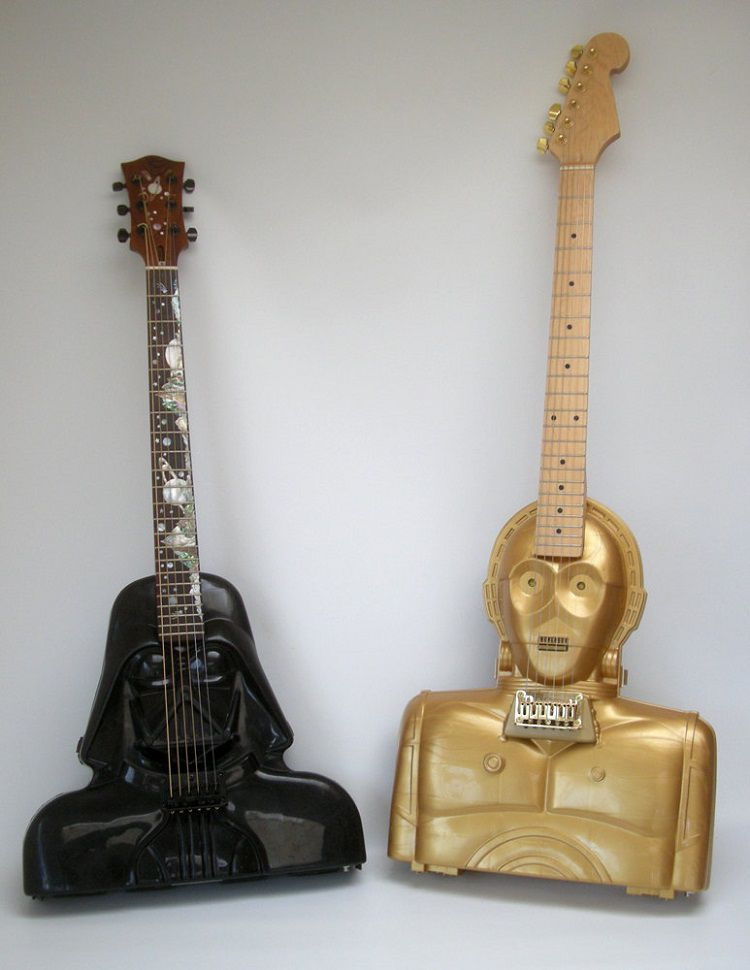star-wars-guitare-dark-vador-vader-c3po [750 x 970]