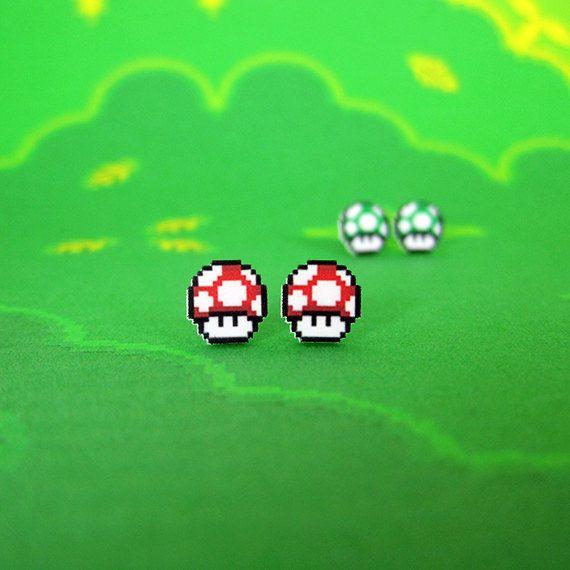 boucles-oreilles-earrings-mario-mushrooms-1up [570 x 570]
