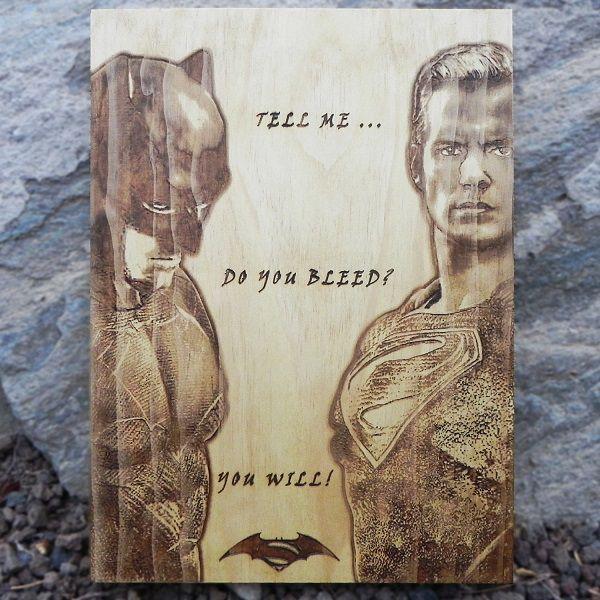 batman-superman-dc-comics-tableau-panneau-bois-affiche-poster [600 x 600]